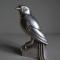 Jan & Joël MARTEL (1896-1966) - Moineau bec fermé - Bronze argenté - Signé - H.15,5 cm - 2356 €