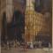 Adrien DAUZATS (1804 - 1868) La Chapelle principale de la cathédrale de Tolède-HST -Signé et daté -165 x 103 cm - 5952 €