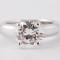 BAGUE Solitaire en or blanc 14K sertie d'un diamant taille brillant- 2.04 cts -  Couleur E - Pureté : VVS2 - 31 000 €