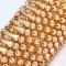 BRACELET MANCHETTE souple en or jaune 18K à décor pointes de diamants - Poids : 66,35 g - 1 612 €