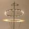 Pierrick BROCART Création - LAMPE de TABLE Saturne en acier brossé et anneaux orientables à éclairage de LED - H.70 - L.40 cm - 1 426 €