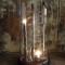 LAMPE du CHIMISTE constituée de fioles et tubes de laboratoire montés à l'électricité sur un socle en bois recouvert d'une cloche en verre - H. 53 cm - 620 €